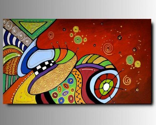 1 quadro arte moderna dipinto a mano coloratissimo for Quadri arte moderna