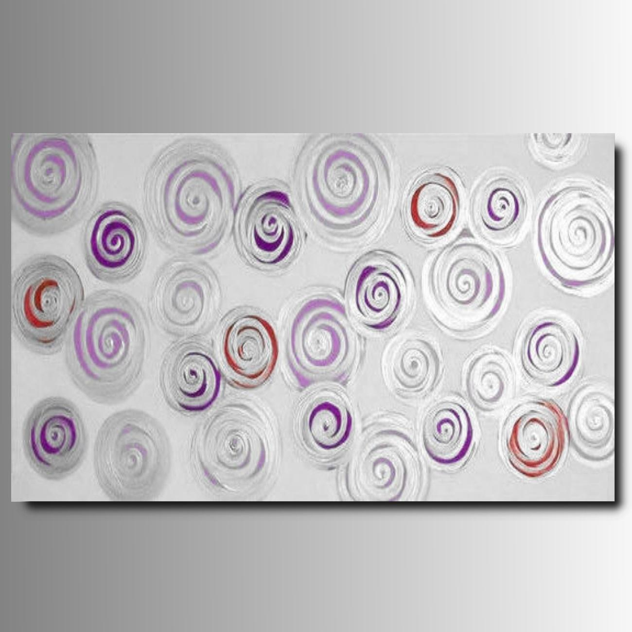 Quadro Moderno Dipinto A Mano.1 Quadro Moderno Dipinto A Mano Spirali Colorate