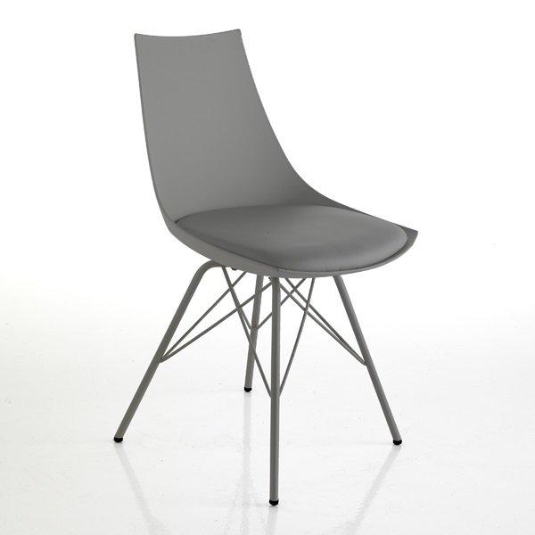 2 sedie moderne zampe a spillo grigio for Sedie moderne grigie