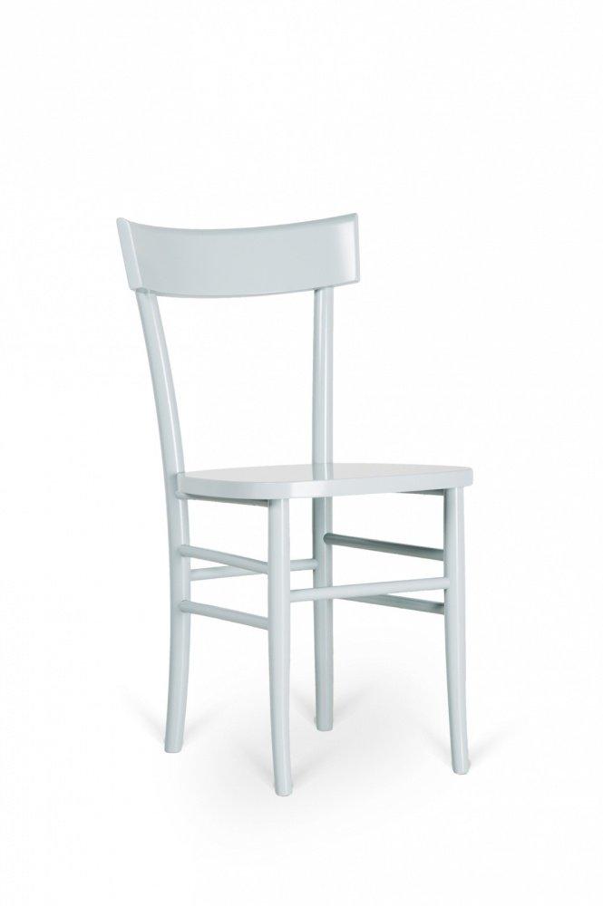 2 sedie tradizionali semplici in legno laccato grigio for Sedie moderne grigie