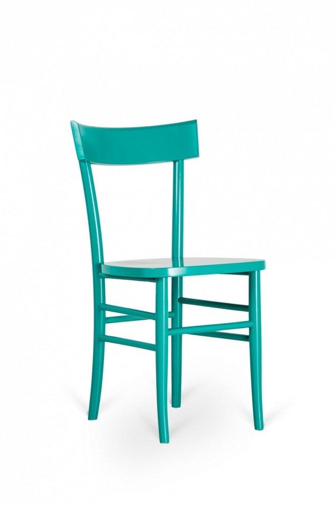 2 sedie tradizionali semplici in legno laccato turchese for Sedie turchesi