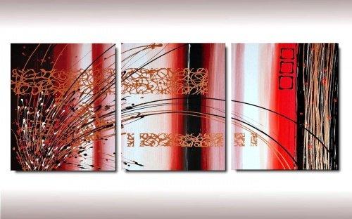3 quadri astratti unico formato toni del lilla for Quadri astratti rossi