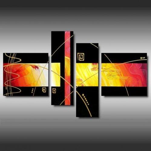 4 quadri moderni astratti colori tenui for Quadri arte moderna astratti