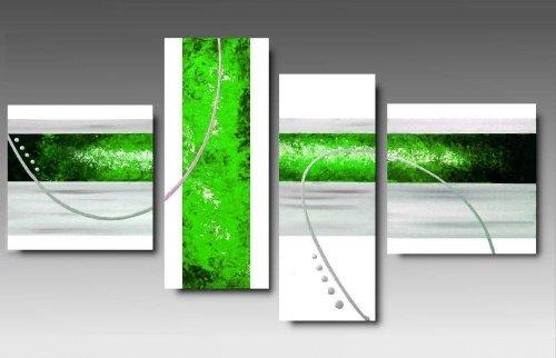 Quadri Arte Moderna Dipinti a Mano Verde Acido