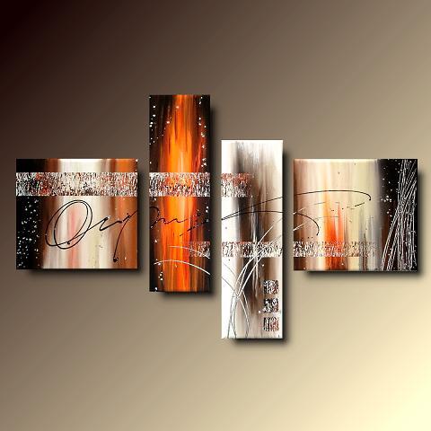4 quadri arte moderna lava dipinti a mano su tela for Quadri moderni su tela dipinti a mano