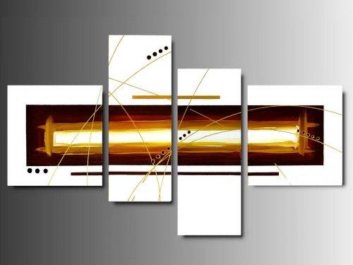 4 quadri arte moderna toni del bianco caff e oro for Quadri arte moderna
