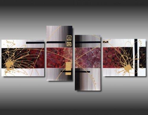 4 quadri astratti arte moderna schizzi dorati for Quadri arte moderna