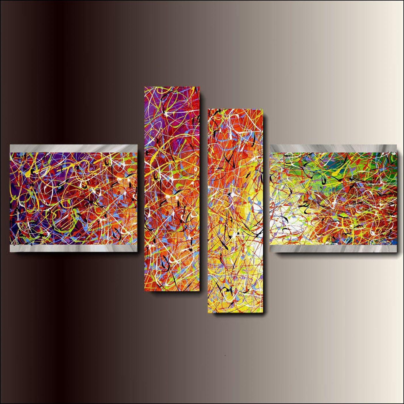 Grande dipinti astratti su tela hl36 pineglen for Dipinti a mano moderni