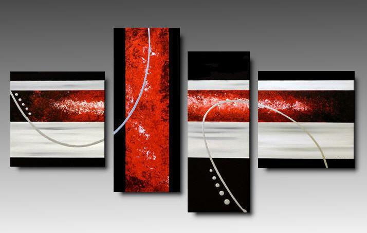 Rosso colore classico del natale che arreda con stile moderno for Quadri astratti dipinti a mano