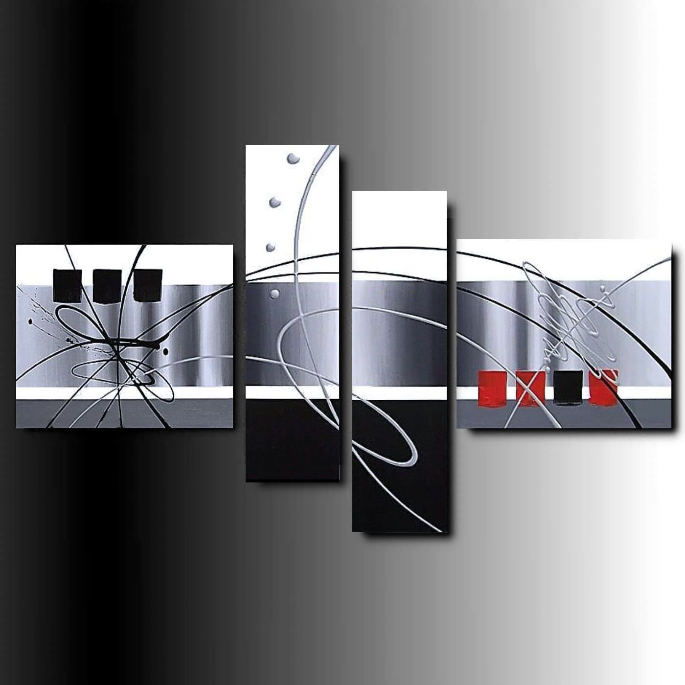 4 quadri astratti sensation dipinti a mano su tele for Quadri arte moderna