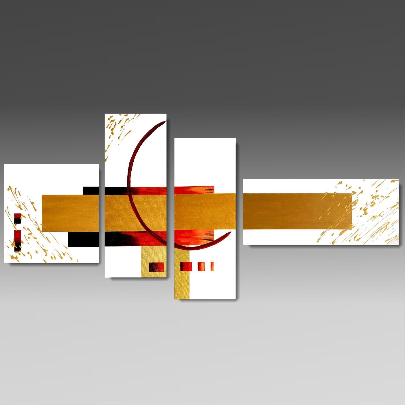 Quadri 4 tele for Quadri arte moderna astratti