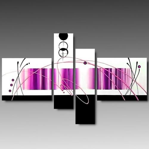 4 quadri moderni astratti color marrone tenue for Tele quadri