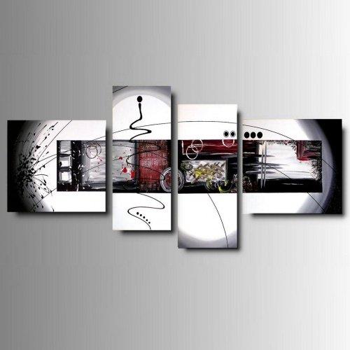 4 quadri moderni astratti colorati dipinti a mano for Quadri moderni dipinti a mano