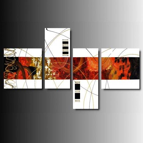 4 quadri moderni astratti toni del fuxia e bianco - Quadri moderni ikea ...