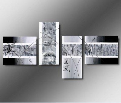 4 quadri moderni toni del grigio e bianco for Amazon quadri moderni astratti