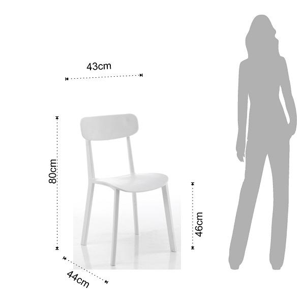 4 Sedie Moderne Design Minimal Bianco
