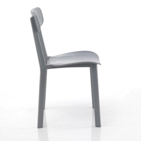 4 Sedie Moderne Design Minimal Grigio in Polipropilene