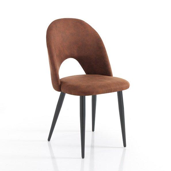 4 Sedie Moderne.4 Sedie Moderne Effetto Invecchiato Colore Marrone