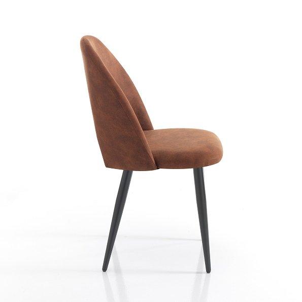4 Sedie Moderne Effetto Invecchiato Colore Marrone