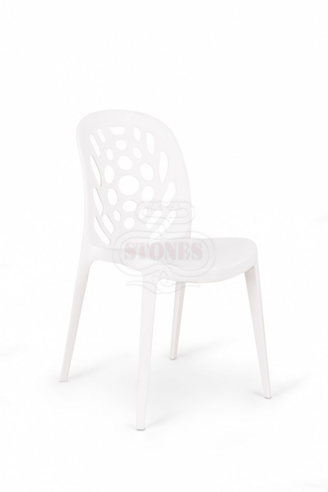4 sedie moderne lavorate in polipropilene bianco for Imitazioni lampade design
