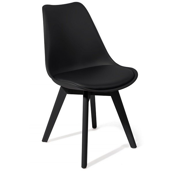 4 Sedie Moderne.4 Sedie Moderne Total Black Polipropilene Seduta Imbottita