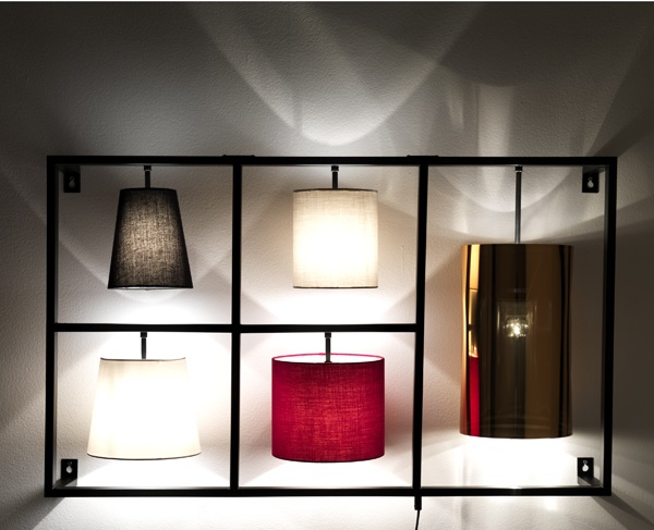 Applique lampada da muro particolare 5 luci