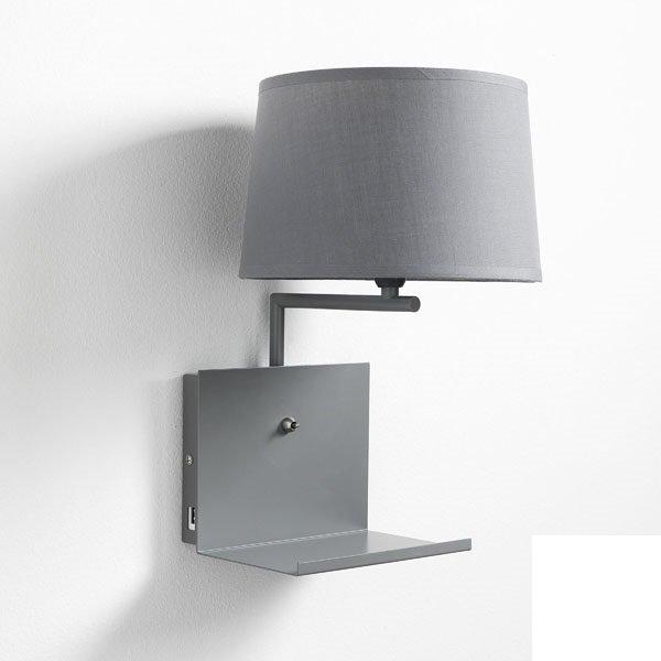 Lampada da parete in alluminio bianco e oro for Applique da muro