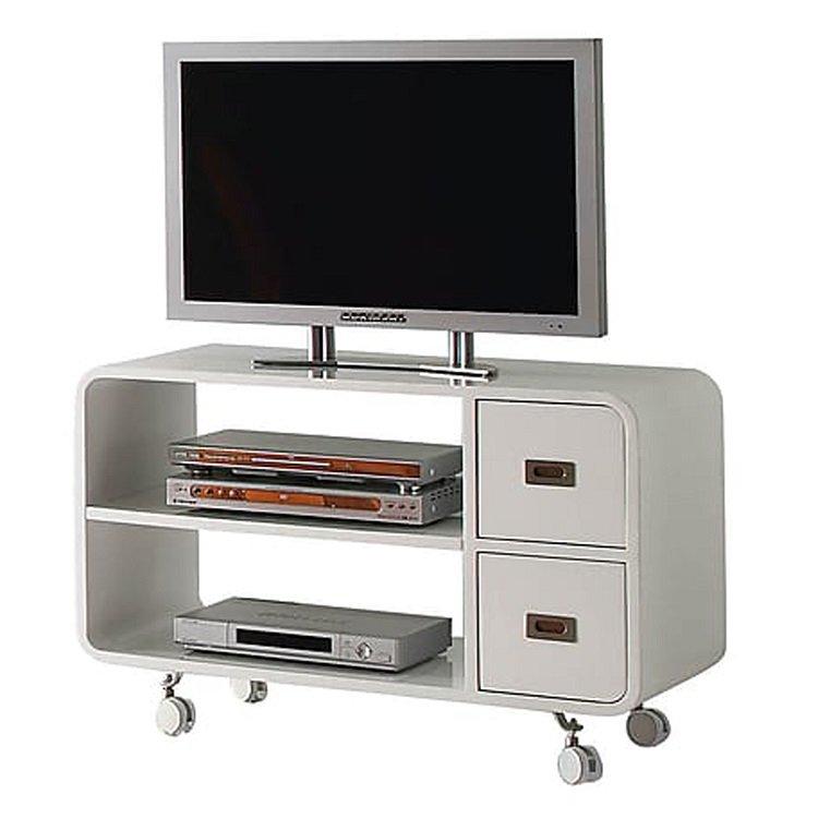 Base Porta Tv con Ruote Cassetti e Ripiani Decoder