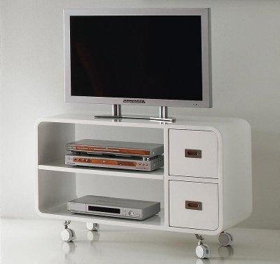 Base porta tv parete attrezzata laccato bianco - Porta decoder da parete ...