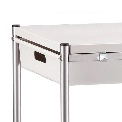 Carrelli Da Cucina Moderni.Carrello Da Cucina O Attivita In Metallo Bianco Con Cassetto