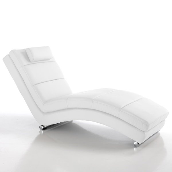 Chaise Longue Dormeuse Moderna colore Bianco