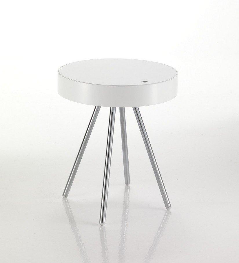 Comodino Rotondo Bianco ~ La Scelta Giusta Per il Design Domestico