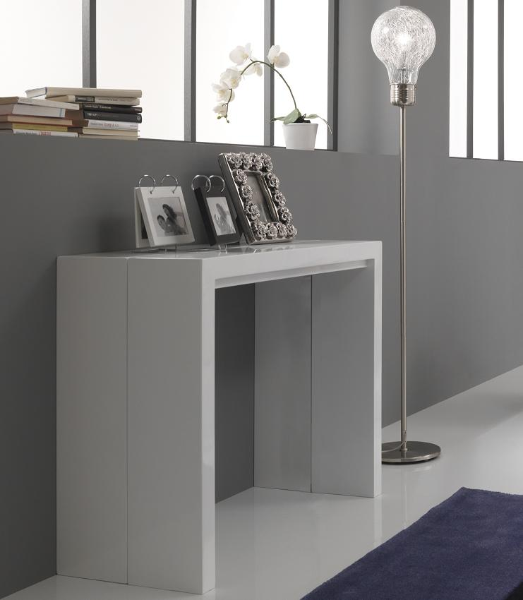 Consolle tavolo apribile allungabile moderno for Tavolo consolle con sedie