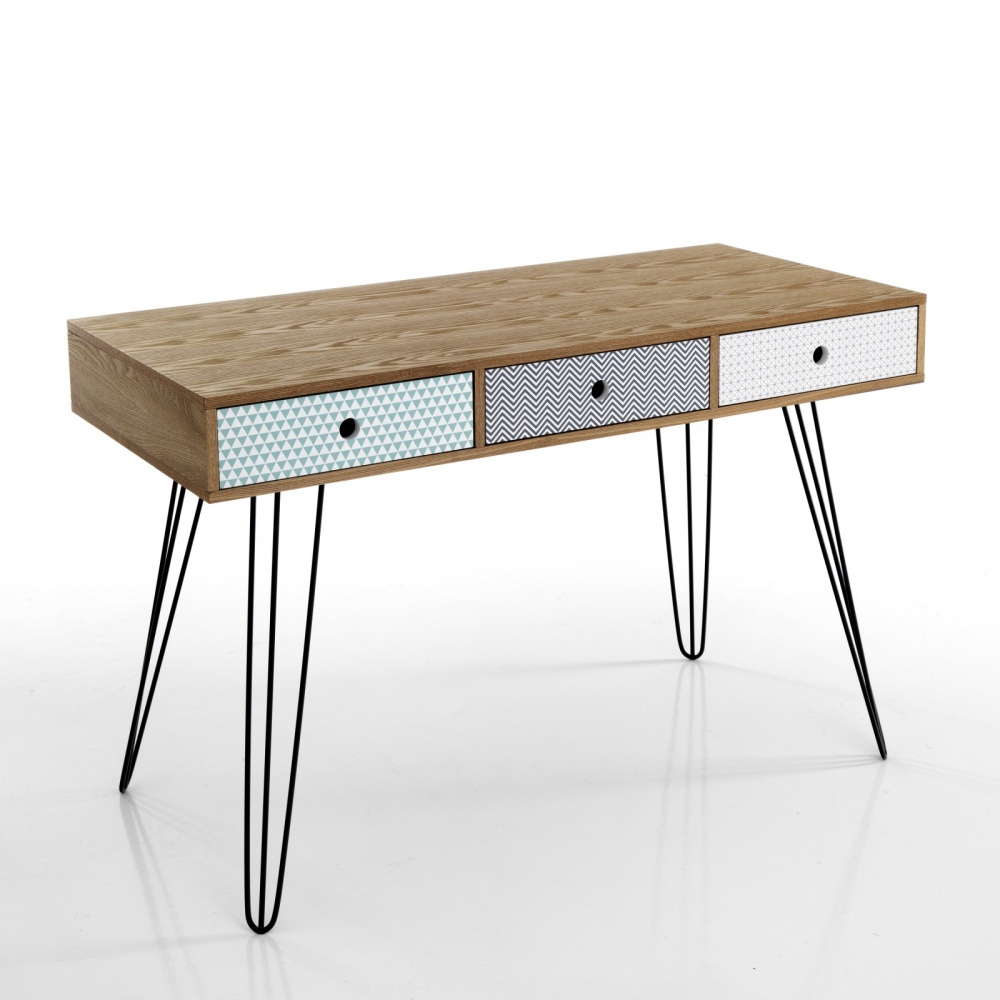 Consolle vintage in legno con 3 cassetti fanstasia - Tavoli vintage legno ...