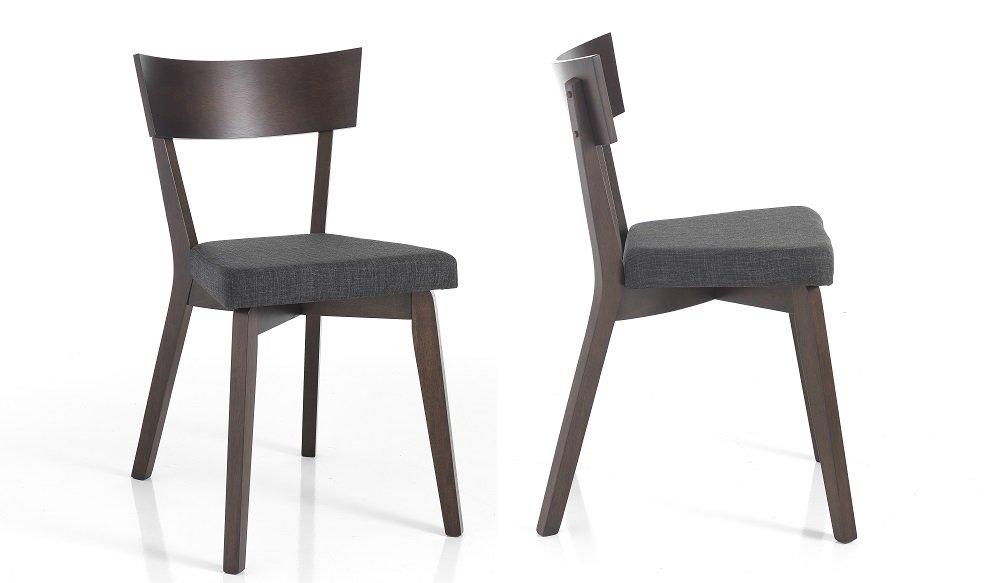 Inserzione personalizzata 6 sedie colore grigio for Sedie nere moderne