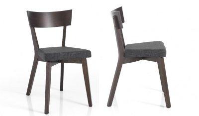 4 sedie stile industriale legno massello e metallo for Sedie nere moderne