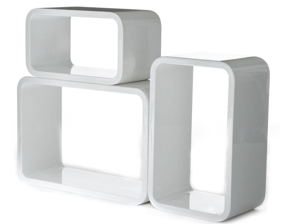 Base porta tv parete attrezzata laccato bianco for Cubi da parete ikea