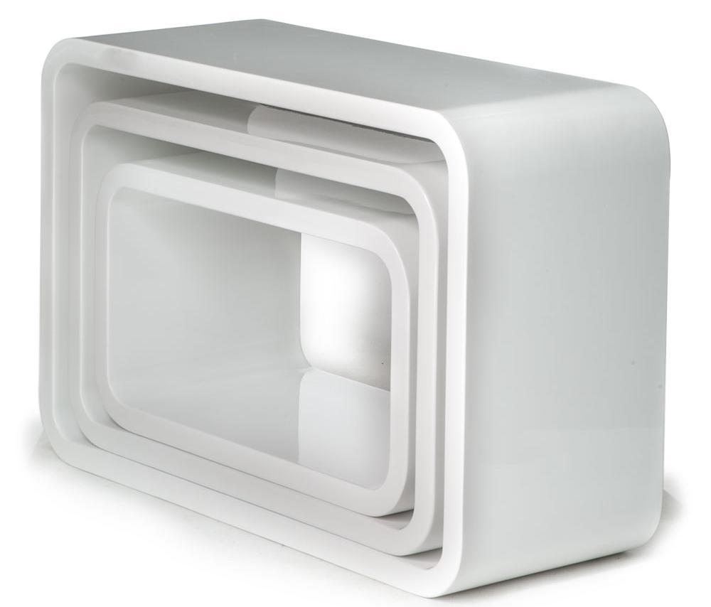 Cubi da Muro Varie Forme e Misure Laccati Bianco