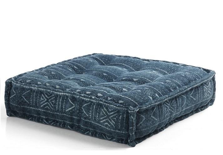 Cuscino da Seduta per Divani Componibili Quadrato Blu