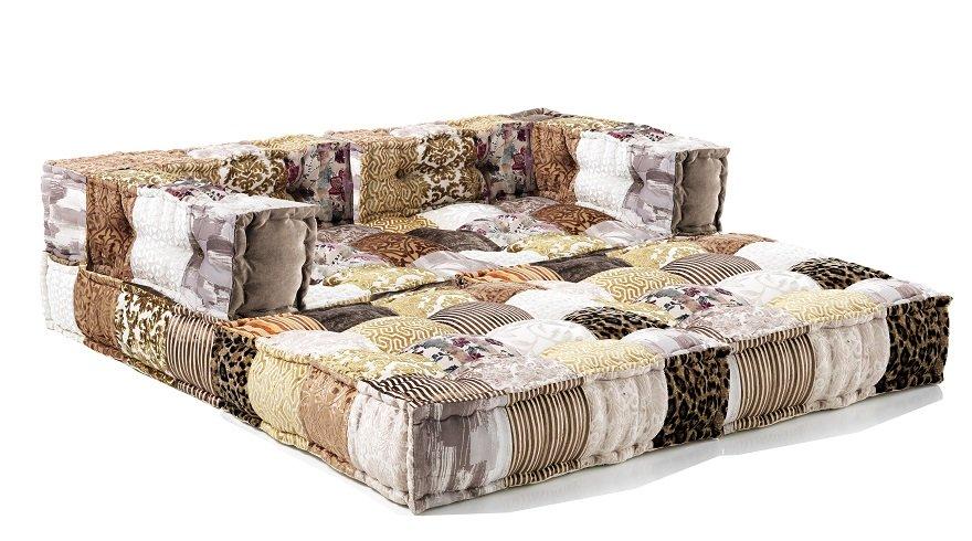 Divano Letto Patchwork : Cuscino da seduta per divano o poltrona patchwork maculato