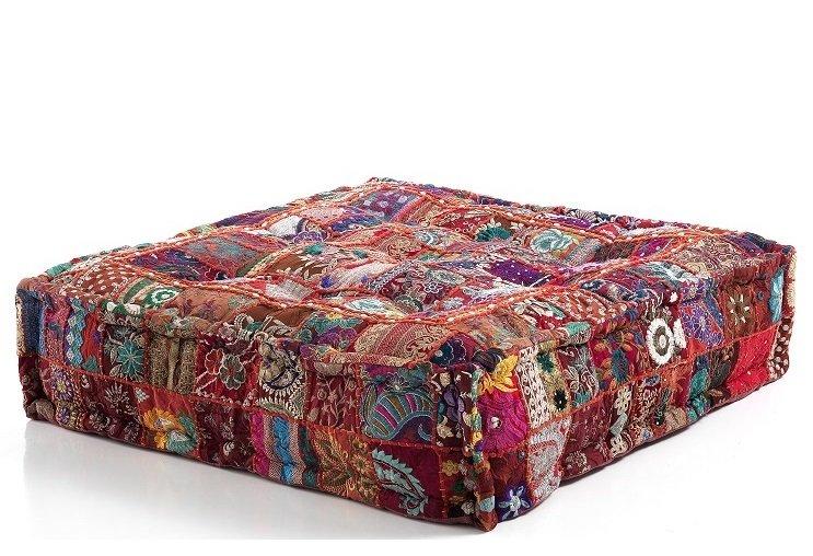 Divano Letto Patchwork : Cuscino da seduta per divano o poltrona red patchwork