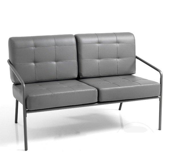 Divanetto moderno 2 posti design minimal grigio for Divano minimal