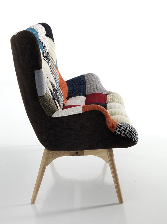 divanetto moderno particolare patchwork attesa