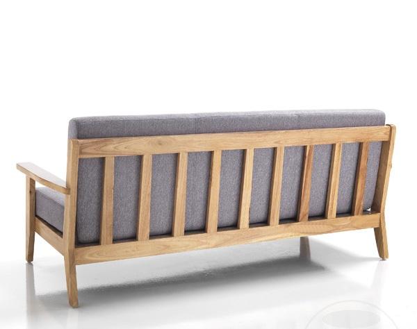 Divano 3 posti fisso stile rustico in legno massello ebay - Divano rustico 3 posti ...
