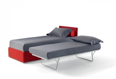 Divano doppio letto singolo con reti a doghe e materassi - Letti singoli con doppio letto ...