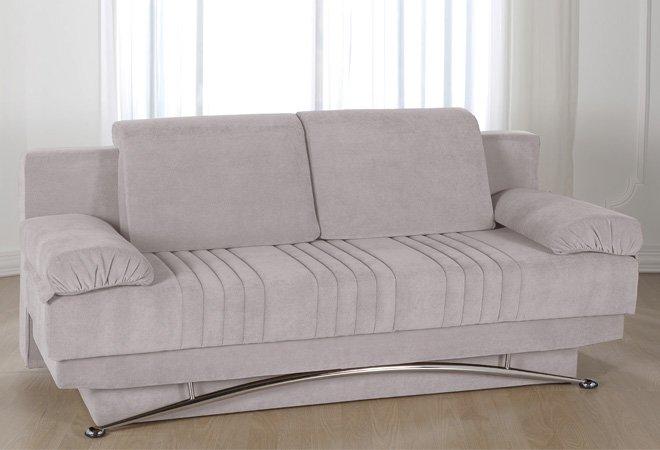 Divano letto 3 posti francese in microfibra rosso - Microfibra divano ...