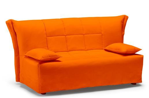 Divano letto matrimoniale large colore arancio