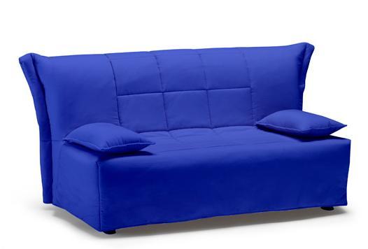 Divano Letto Matrimoniale Large Colore Blu