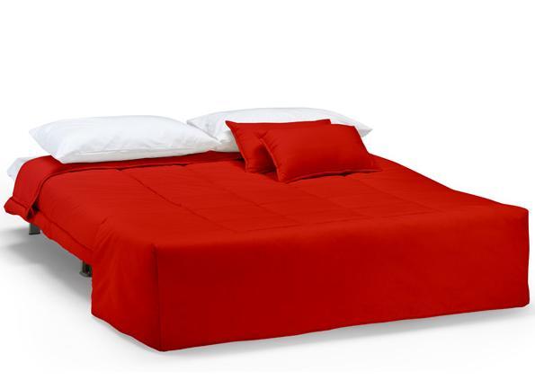 Divano letto medium 140 con trapunta e cuscini