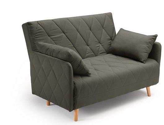 Divano Letto Una Piazza E Mezza : Divano letto piazza e mezza con cuscini grigio